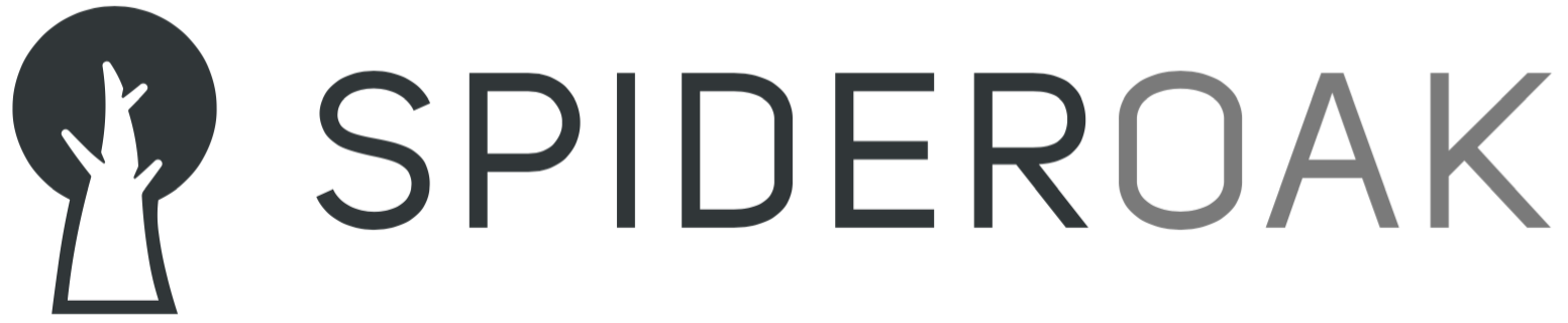 SpiderOak logo with the word 'SpiderOak'.